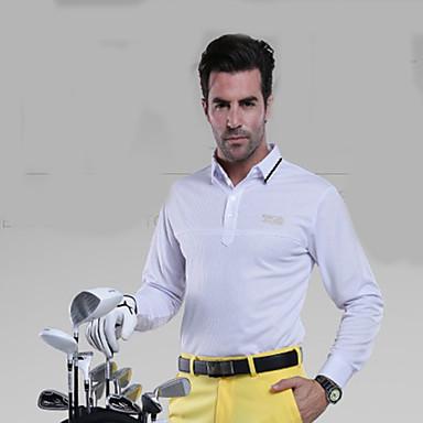 Homens Manga Longa Golfe Blusas Respirável Redutor de Suor Confortável Golfe Esportes Relaxantes