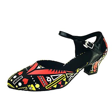 Mulheres Sapatos de Dança Moderna Courino Sandália / Salto Presilha / Recortes Salto Personalizado Personalizável Sapatos de Dança Preto