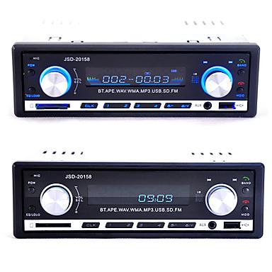 Jsd-20158 12v bluetooth car áudio auto estéreo carro rádio player fm receptor mp3 usb / sd cartão / aux no in-dash 1 din carro áudio