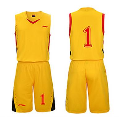 Unisex Kurzarm Basketball Kleidungs-Sets Baggy Shorts Atmungsaktiv