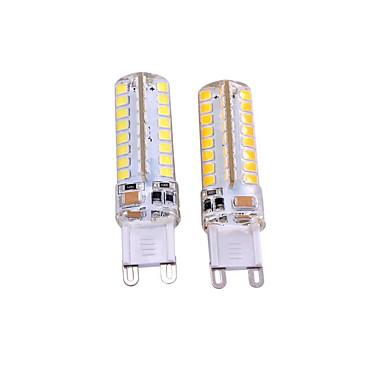2pcs 3W 550-650lm G9 LED Bi-pin světla T 64 LED korálky SMD 2835 Ozdobné Teplá bílá Bílá 110-130V 220-240V