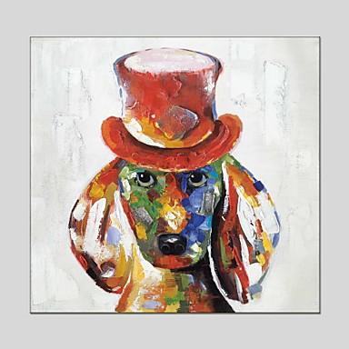 Pintados à mão Animais Quadrada, Clássico Modern Tela de pintura Pintura a Óleo Decoração para casa 1 Painel