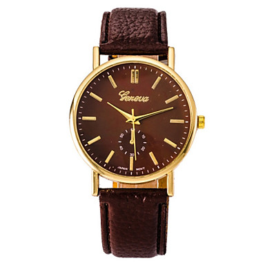 Women's Fashion Watch Casual Watch Quartz Casual Watch Leather Band Elegant Black White Blue Red Brown Green