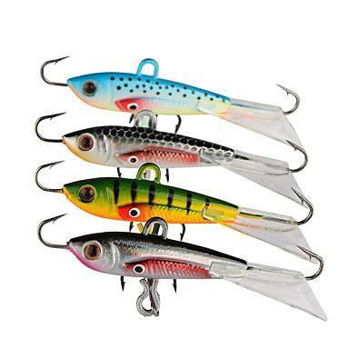 cheap Fishing Lures & Flies-4 pcs Fishing Lures Jigs Metal Bait Jig Head Lead Stainless Steel / Iron Metal Sinking Fast Sinking Sea Fishing Bait Casting Ice Fishing / Spinning / Jigging Fishing / Freshwater Fishing