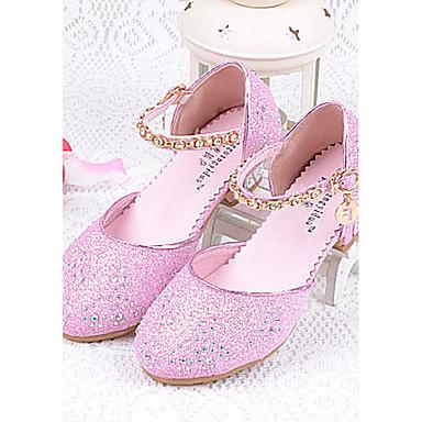 Para Meninas Sapatos Gliter Verão Conforto Saltos Gliter com Brilho para Prata / Azul / Rosa claro