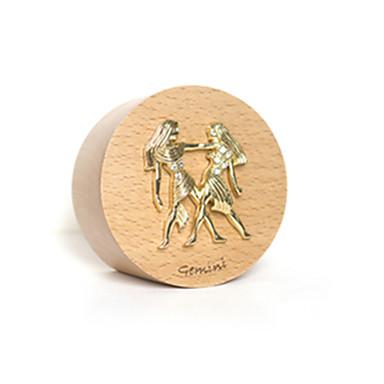 Caixa de música Madeira Circular Presente Unisexo Dom
