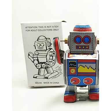 Robô Brinquedos de Corda Brinquedos Robô Metal 1 Peças Crianças Dom