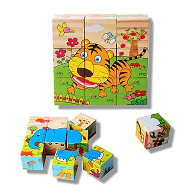 voordelige 3D-puzzels-Speelgoedauto's 3D-puzzels Legpuzzel Tiger Fruit Dieren Hout Kinderen Speeltjes Geschenk