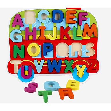 Blocos de Construir / Jogos de Madeira / Brinquedos Matemáticos Ônibus Fun & Whimsical Para Meninos Dom