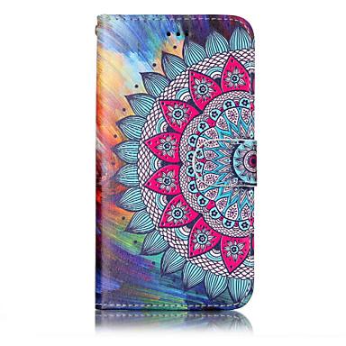 Capinha Para Huawei P9 Lite Huawei Huawei P8 Lite Porta-Cartão Carteira Com Suporte Flip Estampada Com Relevo Capa Proteção Completa Flor