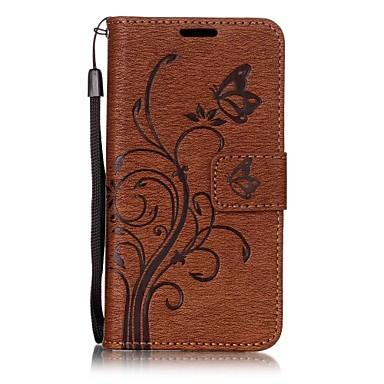Capinha Para Samsung Galaxy A5(2017) A3(2017) Porta-Cartão Carteira Com Suporte Flip Magnética Com Relevo Capa Proteção Completa Sólido