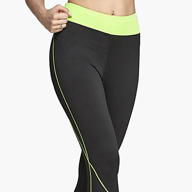 Mulheres Leggings de Ginástica Leggings de Corrida Respirável Macio Confortável Calças Ioga Exercício e Atividade Física Esportes