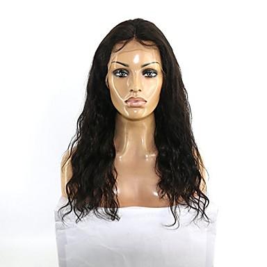 인모 전면 레이스 가발 물결 130 % 밀도 100% 핸드 타이드 흑인 가발 자연 헤어 라인 짧음 보통 긴 여성용 인모 레이스 가발