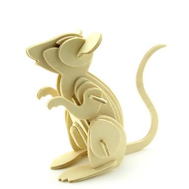voordelige 3D-puzzels-3D-puzzels Muis Plezier Hout Klassiek Kinderen Unisex Speeltjes Geschenk