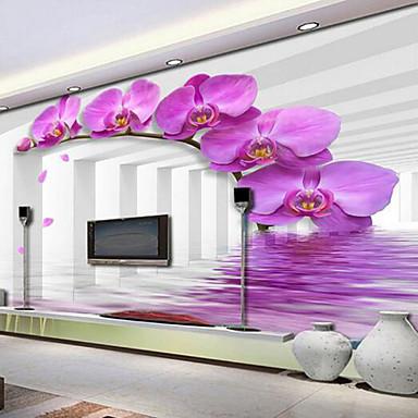 Mural Tela de pintura Revestimento de paredes - adesivo necessário Floral 3D