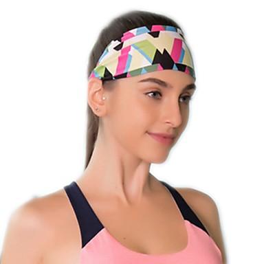 Gorro Dupla Face Larga Mulheres Redutor de Suor Confortável para Ioga Corridas Esportes Relaxantes Moderno Elastano Terylene