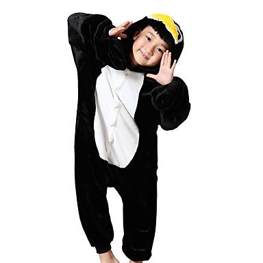للأطفال بيجاما كيجورومي البطريق بيجاما ونزي فلانل الصوف أسود تأثيري إلى الأولاد والبنات ملابس للنوم الحيوانات رسوم متحركة هالوين عطلة / عيد