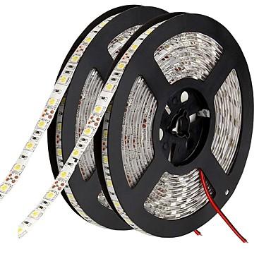 billige LED Strip Lamper-fleksible ledede lysstrimler 600 ledninger varm hvit hvit grønn gul blå rød kuttbar selvklebende egnet for kjøretøyer som kan kobles dc 12v