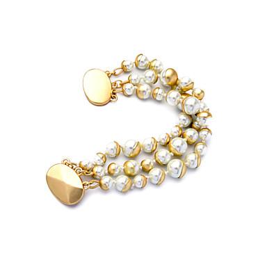 Dámské Řetězové & Ploché Náramky přátelství Módní Štras Slitina Round Shape Šperky Pro Svatební Párty Narozeniny