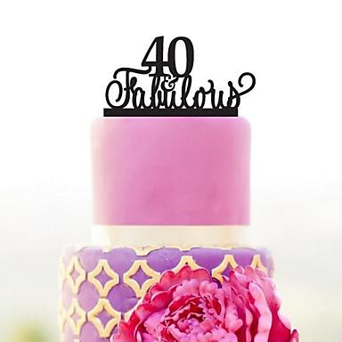 Decorações de Bolo Tema Jardim / Tema Clássico Acrílico Casamento / Aniversário / Chá de Cozinha com 1 pcs PPO