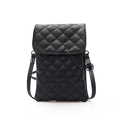 Mulheres Bolsas PU Telefone Móvel Bag para Ao ar livre Verde / Preto / Cinzento Prateado