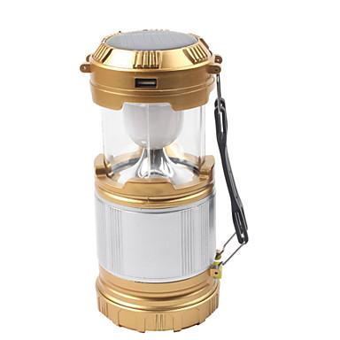 billige Lommelykter & campinglykter-Lanterner & Telt Lamper 850 lm LED LED 5 emittere 1 lys tilstand med lader Vanntett Oppladbar Nødsituasjon Camping / Vandring / Grotte Udforskning Dagligdags Brug Sykling Svart Gull