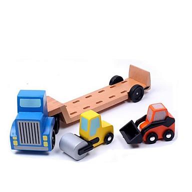 Veiculo de Construção Compactadores Caminhões & Veículos de Construção Civil Carros de Brinquedo Playsets veículos Madeira Crianças