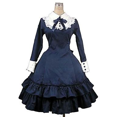 Gothic Lolita Princeznovské Dámské Dívčí Šaty Cosplay Dlouhý rukáv Ke kolenům