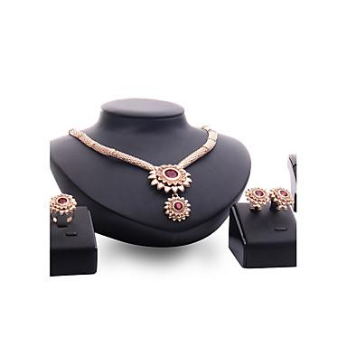 Dámské Sady šperků imitace drahokamu Přizpůsobeno Vintage Módní Euramerican Velké šperky Svatební Párty Zvláštní příležitosti Syntetické