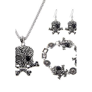 Mulheres Esmeralda Sintética Turquesa Conjunto de jóias 1 Colar 1 Par de Brincos 1 Bracelete - Original Com Logotipo EUA Jóias filme