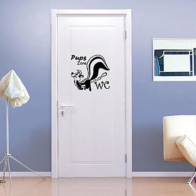 حيوانات أزياء ملصقات الحائط لواصق حائط الطائرة لواصق حائط مزخرفة لواصق المرحاض, الفينيل تصميم ديكور المنزل جدار مائي جدار مرحاض