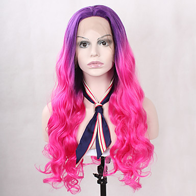 Synthetische Lace Front Perücken Wellen Synthetische Haare Rot Perücke Damen Lang Spitzenfront