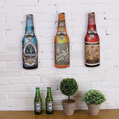 Comida e Bebida / Paisagem Decoração de Parede Madeira Moderna / Retro Arte de Parede, Tapeçarias Decoração
