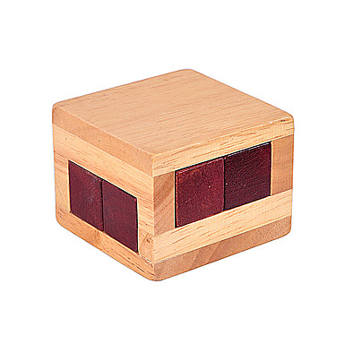 나무 퍼즐 두뇌 발달 장난감 루반 락 장난감 광장 IQ 테스트 나무 남여 공용 조각