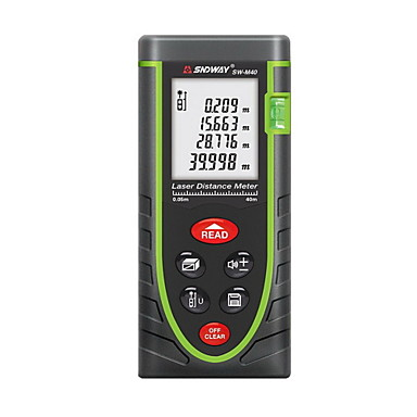 cheap Test, Measure & Inspection Equipment-Sndway SW-M40 Handheld Digital 40m 635nm Laser Distance Measurer with Distance & Angle Measurement(1.5V AAA Batteries)