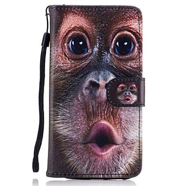 Capinha Para Samsung Galaxy A5(2017) A3(2017) Porta-Cartão Carteira Com Suporte Flip Magnética Estampada Capa Proteção Completa Animal
