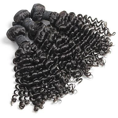 Cabelo Malaio Encaracolado Weave Curly Tramas de cabelo humano 3 Peças Cabelo Humano Ondulado