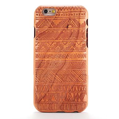 Capinha Para iPhone 6s iPhone 6 Apple Estampada Com Relevo Capa traseira Madeira Estampa Geométrica Rígida De madeira para iPhone 6s