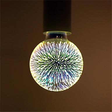 abordables Ampoules de décoration-1pc 6 W Ampoules Globe LED Ampoules à Filament LED 500 lm E26 / E27 G95 35 Perles LED LED Intégrée Décorative Étoilé Feu d'artifice en 3D Multicolores 85-265 V / RoHs