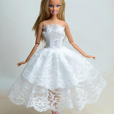Varten Leninki Barbie Organza Mekot Pitsi Nukke Prinsessa 5A3L4Rj