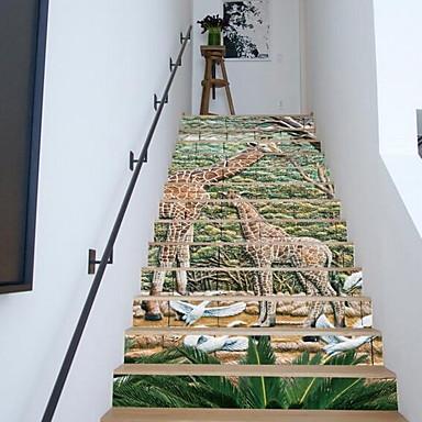 애니멀 벽 스티커 3D 월 스티커 데코레이티브 월 스티커,비닐 자료 홈 장식 벽 데칼