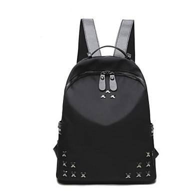 Damen Taschen Nylon Rucksack für Normal Draussen Ganzjährig Schwarz Rote