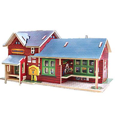 직소 퍼즐 3D퍼즐 빌딩 블록 DIY 장난감 나무 모델 & 조립 장난감