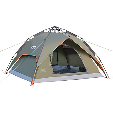 Outdoor Camping Gear 70*210cm Polyester Travel Sleeping Bag+automatic Instant Pop Up Hiking Tent 240 *180*100cm For 3-4 Persons Moderate Price Sleeping Bags