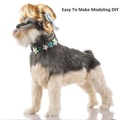 Gato Cachorro Natal Perucas Roupas para Cães Sólido Laranja Amarelo Marron Azul Preto Raiom/Poliéster Ocasiões Especiais Para animais de