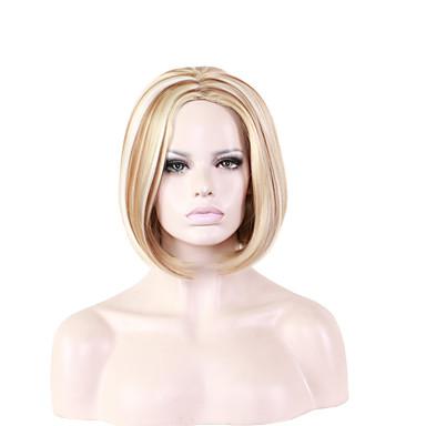 Syntetiska peruker Lockigt Syntetiskt hår Blond Peruk Dam Mellan Naturlig peruk / Halloween Paryk / Karneval peruk Utan lock