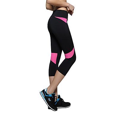 Mulheres Calças de Corrida - Azul Céu, Violeta, Verde Claro Esportes 3/4 calças justas Ioga, Acampar e Caminhar, Exercício e Atividade