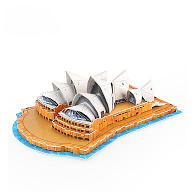 voordelige 3D-puzzels-3D-puzzels Beroemd gebouw Sydney Opera House Papier 1 pcs Kinderen Speeltjes Geschenk