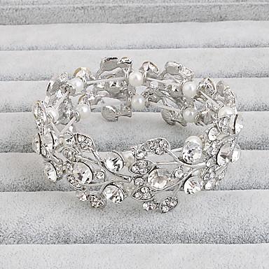 Mulheres Bracelete - Flor Fashion Pulseiras Jóias Branco Para Presentes de Natal Casamento Festa Ocasião Especial Aniversário Noivado / namorados