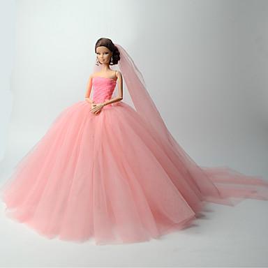 Wedding dresses for barbie doll organza dress for girl 39 s for Barbie wedding dresses for sale